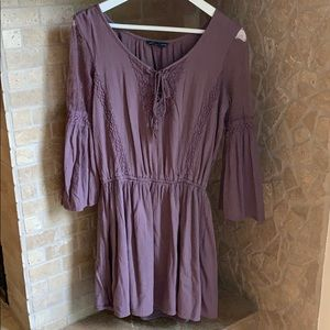 Lacey purple dress